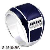 Jóias de prata 925 CZ homens Homem Esmalte Anéis de Vedação