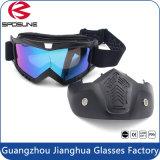 Les lunettes de moto antibrouillard et Anti-Rayent la lunetterie Bendable de recyclage d'épreuve de la poussière de Googles avec de la mousse molle complétée