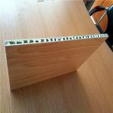 Панели сота Coated деревянного цвета PVDF алюминиевые