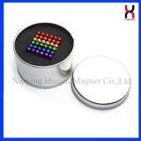 Boule magnétique à jouets pour enfants à neodimium multi-couleurs