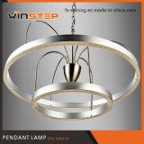 De in het groot LEIDENE van de Ring van de Verlichting van het Aluminium 3000k Acryl Dubbele Lamp van de Tegenhanger