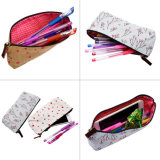 Lovely Water-Proof Pencil Case / Pencil Bag Canvas Pen Pencil Case Papelaria Bolsa Mala Malas Cosméticos, Conjunto de 4