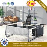 Mobília moderna de mobiliário de vidro temperado com estrutura metálica (NS-GD005)