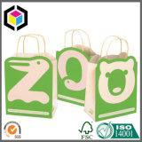 Brilhante Cor Gift Shopping Saco de papel com alça de algodão