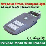 Shenzhen integró la lámpara de pared solar de la luz de calle del poder más elevado LED para el hogar