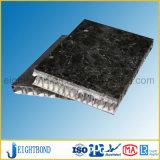 Черный мраморный каменный алюминиевый строительный материал панели сота