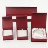 Boîte-cadeau en cuir de estampage argentée de papier de Leatherette d'unité centrale (J40-E1)