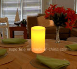 Candele a pile senza fiamma di plastica della colonna LED di sicurezza di utilizzo per la decorazione