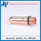 Électrode 220352 pour les consommables 200A de torche de découpage du plasma Hpr260