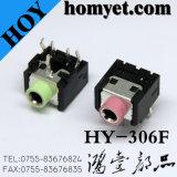 prise de téléphone stéréo sonore de connecteur de 3.5mm avec le type traversant de trou