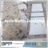 Forte vanità beige del controsoffitto del marmo del pacchetto & pietra naturale della stanza da bagno