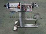 Pequeño líquido semi auto de la botella/solo tipo máquina de rellenar del suelo de las pistas de la goma