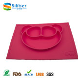 Lovely Animal Shaped Silicone Kids Alimentando Placemats, Food Tray