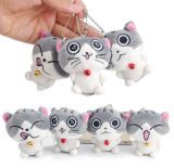 Gato Keychain do luxuoso do animal enchido de Kawaii