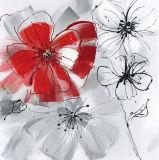 고품질을%s 가진 꽃을 피우는 꽃 Handmade 유화