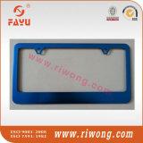 Blocco per grafici Polished della targa di immatricolazione dell'acciaio inossidabile con 2 coperchi antifurto della vite di obbligazione dei fori