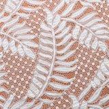 Цветастым ткань сетки шнурка картины волны Leaf-Shaped связанная жаккардом для одежды