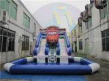 大人および子供のための巨大で膨脹可能な車水スライド
