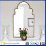 جدار زخرفيّة شاذّة مستطيل شكل [3مّ] [4مّ] [فلوأت غلسّ] فضة مرآة
