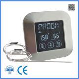 Nuevo termómetro del Bbq de Digitaces de la pantalla táctil del diseño con una punta de prueba