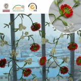 De alta qualidade Vivid Flower Net Lace Tecido para Europa e África Wedding Dress 2017 C10007