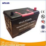 Baterias de carro acidificadas ao chumbo 95D31L da manutenção livre Nx120-7 12V 80ah