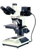 Superficies de Non-Transparent Microscopio metalúrgico reflejado objeto
