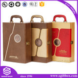 Emballage Custom Gift Leather Handle Tools Wine Box