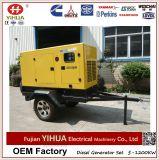 Générateur mobile de remorque, groupe électrogène diesel silencieux de roues de 50kw/62.5kVA Weifang Tianhe deux