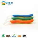 Colher de silicone de alta qualidade Colher de bebê de silicone flexível inquebrável
