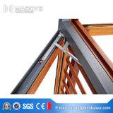 Деревянной окно Casement пролома алюминиевого сплава цвета изолированное жарой термально