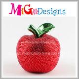 Mealheiro de cerâmica de maçã colorida com diamante para presentes