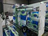 プラスチック波の上の機械を作る半分の円形上のハンドルのショッピング買物袋