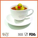 Ws-If021 flottant le thé Infuser de Duckie avec le tamis matériel d'acier inoxydable et de thé de pp