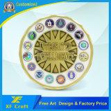 Su ordinazione professionali le monete di sfida del ricordo del bordo del taglio della pressofusione con tutto il marchio (XF-CO19)