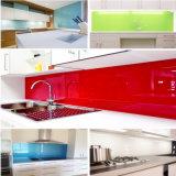 Farbiges ausgeglichenes rückseitiges Drucken Splashback Glas in der Küche