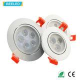 Nueva luz Dimmable del punto de la alta calidad 3W LED Downlight Epistar de RoHS del Ce