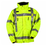 겨울 기본적인 작풍 높은 시정 안전 재킷 작업복