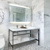 Miroir éclairé à contre-jour allumé par DEL à extrémité élevé de salle de bains de projet d'hôtel