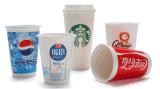 Taza de papel del café/taza de papel disponible impresa colorida para el café caliente