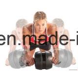 Rolo da roda do Ab - por Potência Orientação - o melhor equipamento da aptidão para o exercício do núcleo - com borracha Non-Slip inovativa, a almofada de joelho grossa extra & os apertos da espuma do conforto
