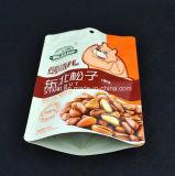 Sac de empaquetage de tirette comique faite sur commande de papier d'aluminium pour la noix