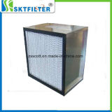 Profond-Plisser les medias de fibres de verre de filtre de HEPA/ULPA avec l'acier inoxydable