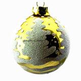 Decoratie 7cm van Kerstmis het Gestalte gegeven Licht die van de Slinger van de Kerstboom van de Bal van het Suikergoed Decoratieve Tegenhanger plateren