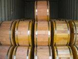 Fio de aço folheado da costa do cobre de alta elasticidade da força no cilindro de madeira