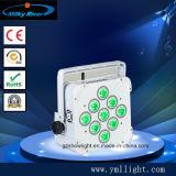12*6en1 RGBWA+UV LED DMX inalámbrica par la luz, el LED de alimentación de batería par la Luz, /Wireless/Iluminación LED bañador de pared LED de batería inalámbrico