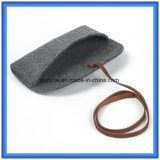 OEM Factory Make Wool Felt Casual Hand Bag, cadeau promotionnel Sun Glasses Packing Briefcase Bag