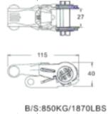 Храповик Tiw вниз гальванизируя электрофорезное покрытие 0.8t