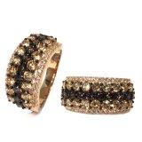 ロマンチックなローズの金の銀はAAAカラージルコンの贅沢なBamoerの宝石類(R10753C)とめっきしたなされた女性記念日のためのリングを