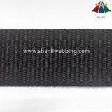 tessitura pura piana nera del cotone di 3cm per la cinghia di Yogga o la cinghia dell'elemento portante di bambino